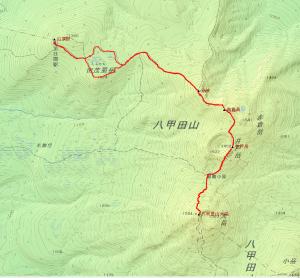 GPSによるルート図